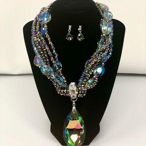 Jewelry - BOGO 75% OFF! Rainbow Gemstone Necklace/Earrings